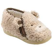 Buy John Lewis Children's Baby Bear Slippers, Light Brown Online at johnlewis.com