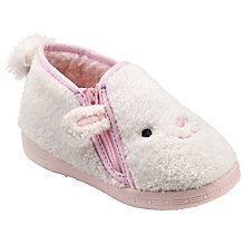 Buy John Lewis Children's Baby Lamb Slippers, Cream Online at johnlewis.com