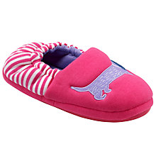 Buy John Lewis Children's Daschy Closed Back Slippers, Pink Online at johnlewis.com