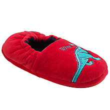 Buy John Lewis Children's Raw Dinosaur Slippers, Red Online at johnlewis.com
