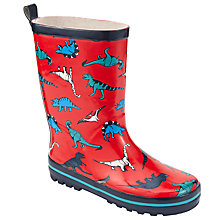 Buy John Lewis Children's Dino Wellington Boots, Red Online at johnlewis.com