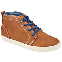 Buy John Lewis Children's Jimmy Mid Top Shoes,Tan Online at johnlewis.com