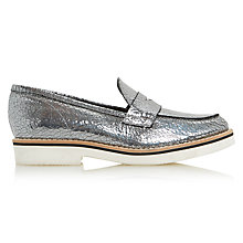 Buy Dune Black Gienna Loafers, Pewter Online at johnlewis.com
