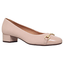 Buy Carvela Comfort Annie Block Heeled Pumps, Nude Suede Online at johnlewis.com