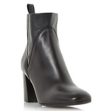 Buy Dune Black Powa Block Heeled Ankle Boots, Black Leather Online at johnlewis.com