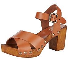 Buy Collection WEEKEND by John Lewis Jax Clog Sandals, Brown Online at johnlewis.com