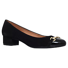 Buy Carvela Comfort Annie Block Heeled Pumps, Black Suede Online at johnlewis.com