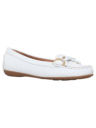 Carvela Comfort Cally Bow Loafers, White