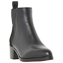 Buy Dune Pony Pointed Toe Chelsea Boots, Black Leather Online at johnlewis.com