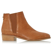 Buy Dune Pearce Block Heeled Ankle Boots, Tan Leather Online at johnlewis.com