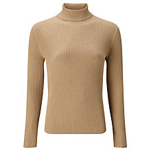 Buy John Lewis Skinny Rib Roll Neck Jumper Online at johnlewis.com