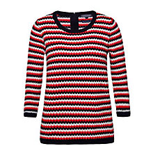 Buy Tommy Hilfiger Halima Crew Neck Jumper, Hibiscus Online at johnlewis.com