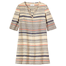 Buy Toast Stripe Hemp Tunic Dress, Multi Online at johnlewis.com