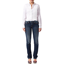 Buy Tommy Hilfiger Amy Stretch Poplin Shirt, Classic White Online at johnlewis.com