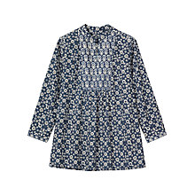 Buy Toast Ajrakh Printed Tunic, Blue Online at johnlewis.com