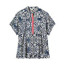 Buy Toast Embroidered Batik Print Top, Multi Online at johnlewis.com