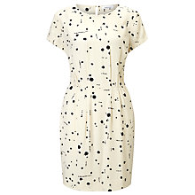 Buy Samsoe & Samsoe Barton Printed Dress, Cream Ink Online at johnlewis.com
