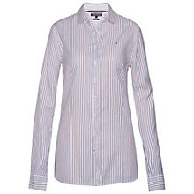 Buy Tommy Hilfiger Delisa Stripe Shirt, Classic White Online at johnlewis.com
