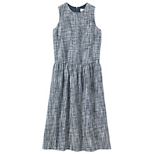 Buy Toast Space Dyed Linen Dress, Blue/White Online at johnlewis.com