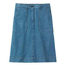 Buy Toast A-Line Denim Skirt, Indigo Online at johnlewis.com