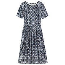 Buy Toast Ajrakh Printed Dress, Blue Online at johnlewis.com