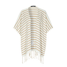 Buy Oui Stripe Poncho, White/Camel Online at johnlewis.com