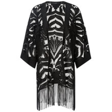 Buy Oui Tasselled Poncho, Black Online at johnlewis.com