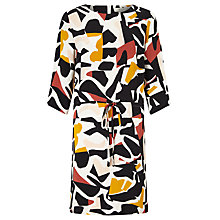 Buy Selected Femme Dimer Abstract Print Dress, Dusty Cedar Online at johnlewis.com