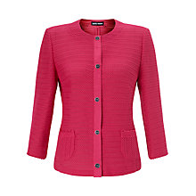 Buy Gerry Weber 3/4 Sleeve Textured Jacket, Pink Online at johnlewis.com