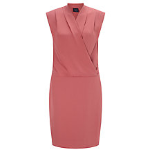 Buy Selected Femme Timla Drape Front Dress, Dusty Cedar Online at johnlewis.com