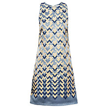 Buy Max Studio Chevron Jacquard Dress, Smoke/Buttercup Online at johnlewis.com