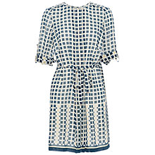 Buy Max Studio Check Shirt Dress, Navy/Buttercup Online at johnlewis.com