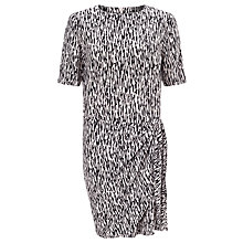 Buy Selected Femme Jenniva Mono Print Tie Dress, Silver Peony Online at johnlewis.com