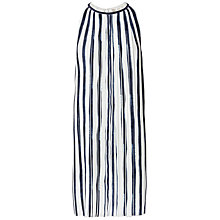 Buy Max Studio Printed Pleat Dress, Off White/Navy Online at johnlewis.com