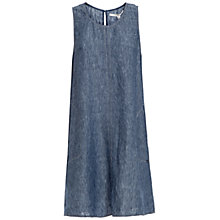 Buy Max Studio Sleeveless Linen Shift Dress, Indigo Online at johnlewis.com