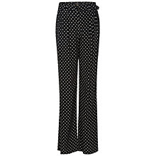 Buy Oui Printed Wide Leg Trousers, Black/White Online at johnlewis.com