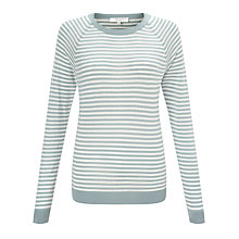 Buy Selected Femme Niba Stripe Raglan Jumper, Slate/Snow White Online at johnlewis.com