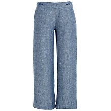 Buy Max Studio Wide Leg Linen Trousers, Indigo Online at johnlewis.com