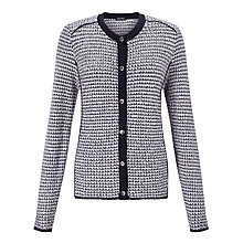 Buy Gerry Weber Knitted Stripe Jacket, Blue/Ecru Online at johnlewis.com