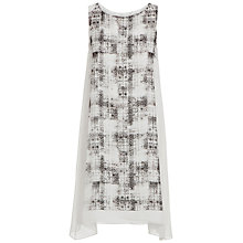 Buy Max Studio Sleeveless Faded Check Dress, White/Black Online at johnlewis.com