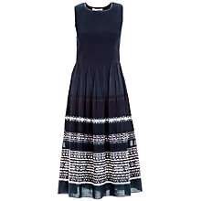 Buy Max Studio Jacquard Midi Dress, Navy Online at johnlewis.com