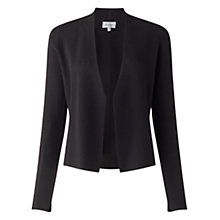 Buy Jigsaw Knitted Jacket, Black Online at johnlewis.com