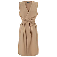 Buy Miss Selfridge Waterfall Sleeveless Jacket, Camel Online at johnlewis.com