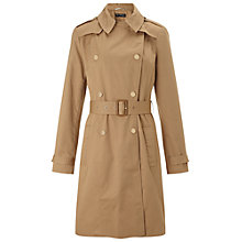 Buy Miss Selfridge Structured Mac, Camel Online at johnlewis.com