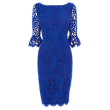 Buy Coast Katrina Lace Dress, Cobalt Online at johnlewis.com
