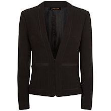 Buy Jaeger Bouclé Trim Detail Jacket, Black Online at johnlewis.com