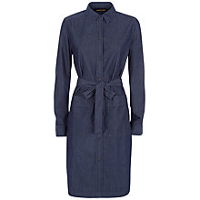Buy Jaeger Denim Shirt Dress, Indigo Online at johnlewis.com