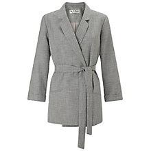 Buy Miss Selfridge Belted Textured Jacket, Grey Online at johnlewis.com