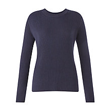 Buy Jigsaw Ribbed Wrap Back Jumper, Atlantic Online at johnlewis.com