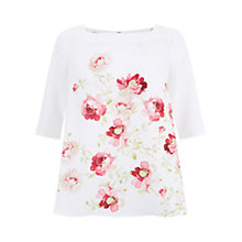Buy Hobbs Rita Rose Top, Ivory/Multi Online at johnlewis.com